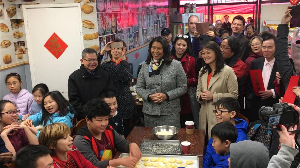 Mayor London Breed celebrating Lunar New Year