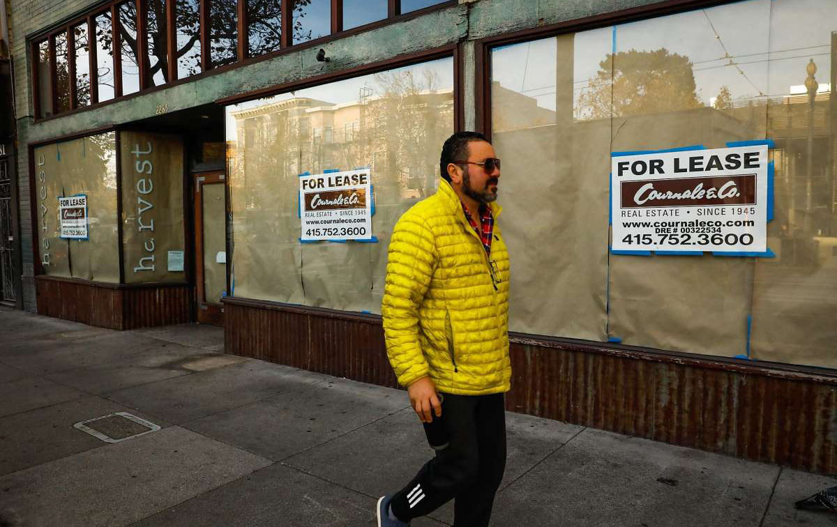 Vacant storefronts (courtesy of San Francisco Chronicle)