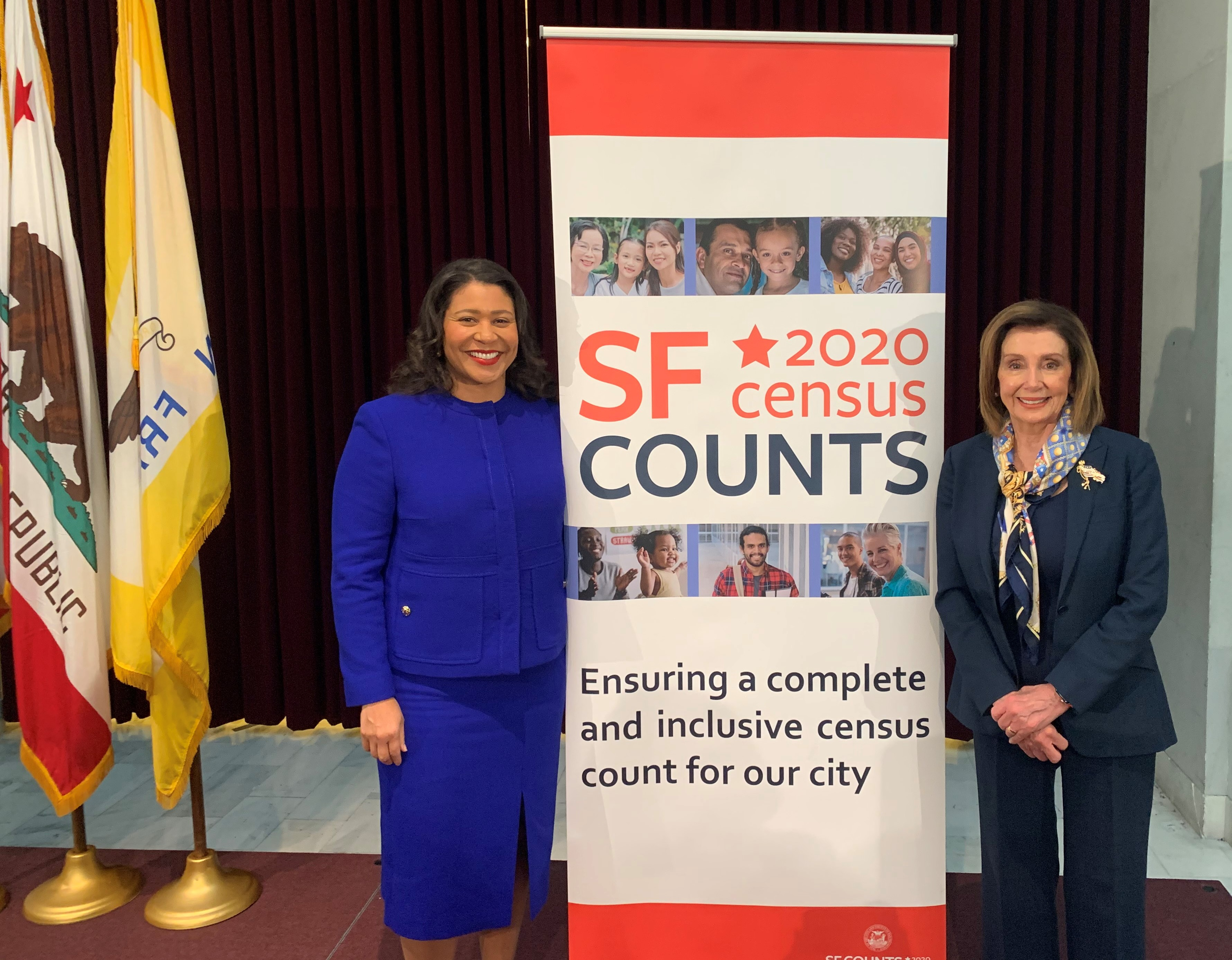 Mayor Breed and Speaker Nancy Pelosi at Census 2020 event
