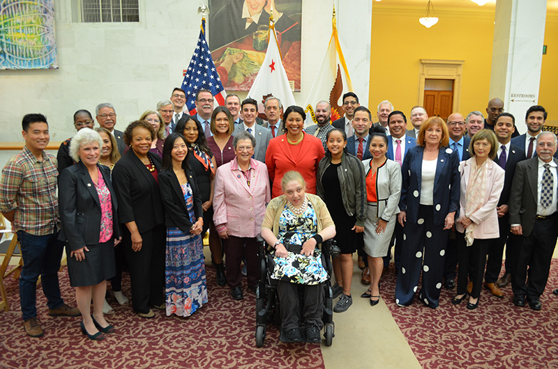 Some of the 84 commissioners that were ceremonially sworn in on September 6, 2019 by Mayor London Breed.