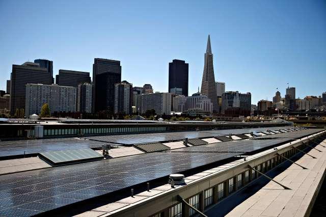 Exploratorium Solar Panels on Roof