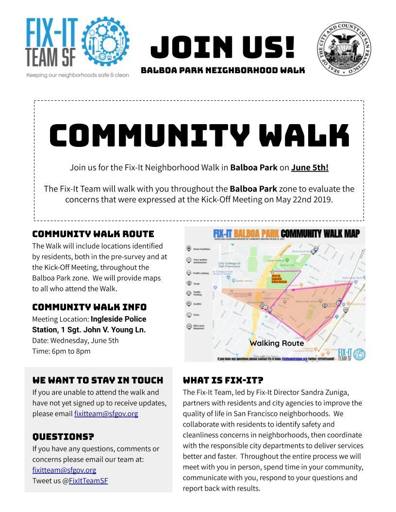 Balboa Park Neighborhood Walk Flyer 06.05.19
