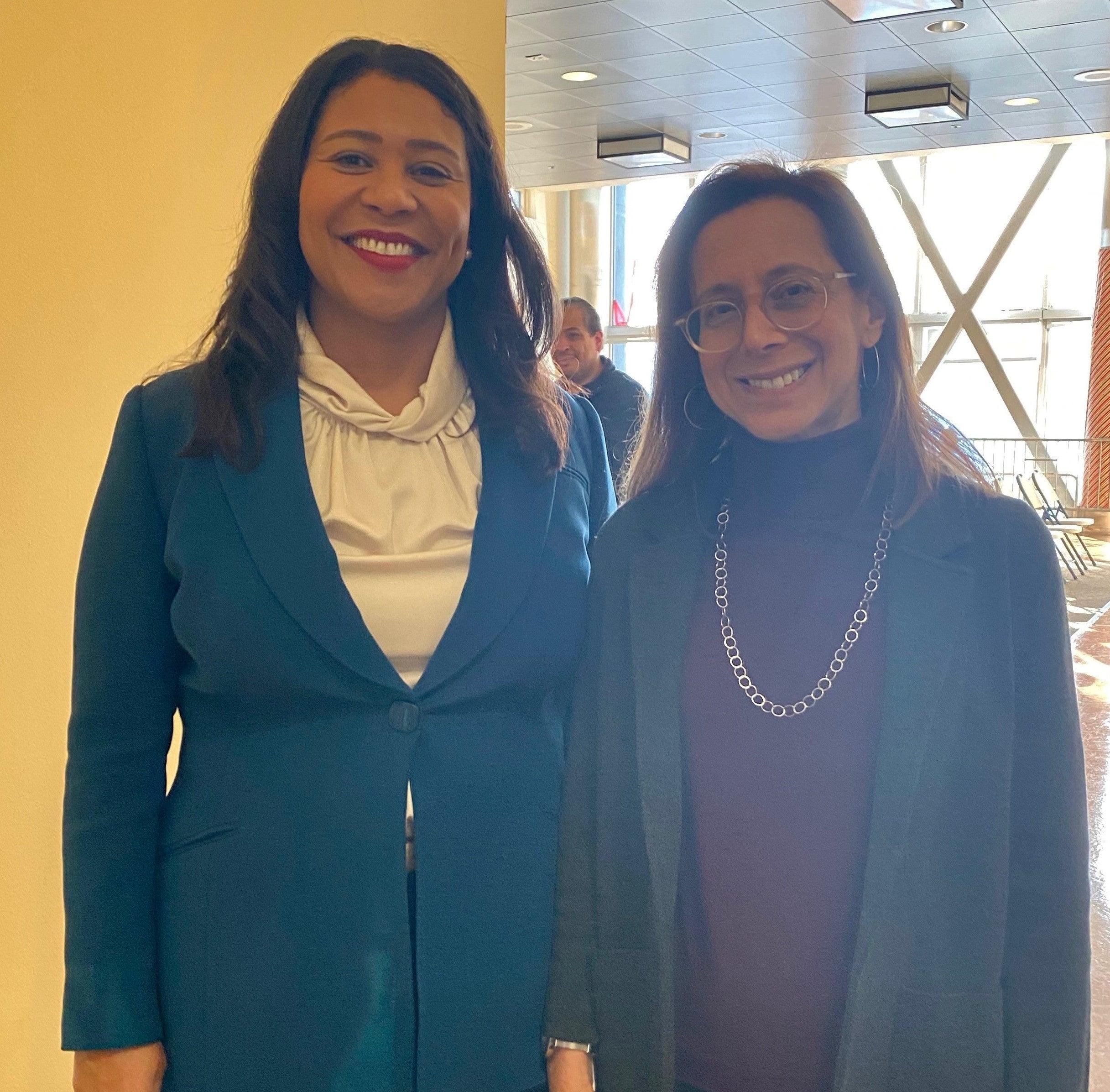 Mayor Breed and Katy Miller, San Francisco's new Juvenile Probation Officer