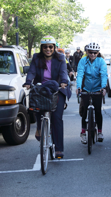 Mayor Breed participates in Bike2Work event