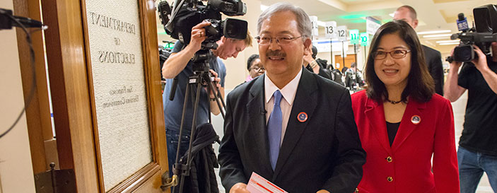 Mayor Lee with his wife Anita Lee