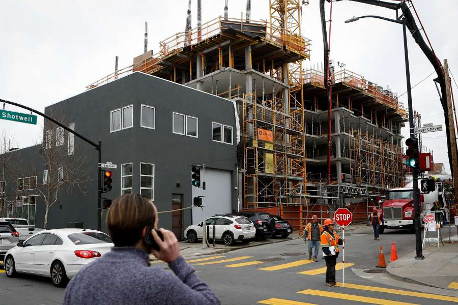 Affordable Housing under construction at Ceasar Chavez and Shotwell streets