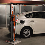 San Francisco electric vehicle charging station