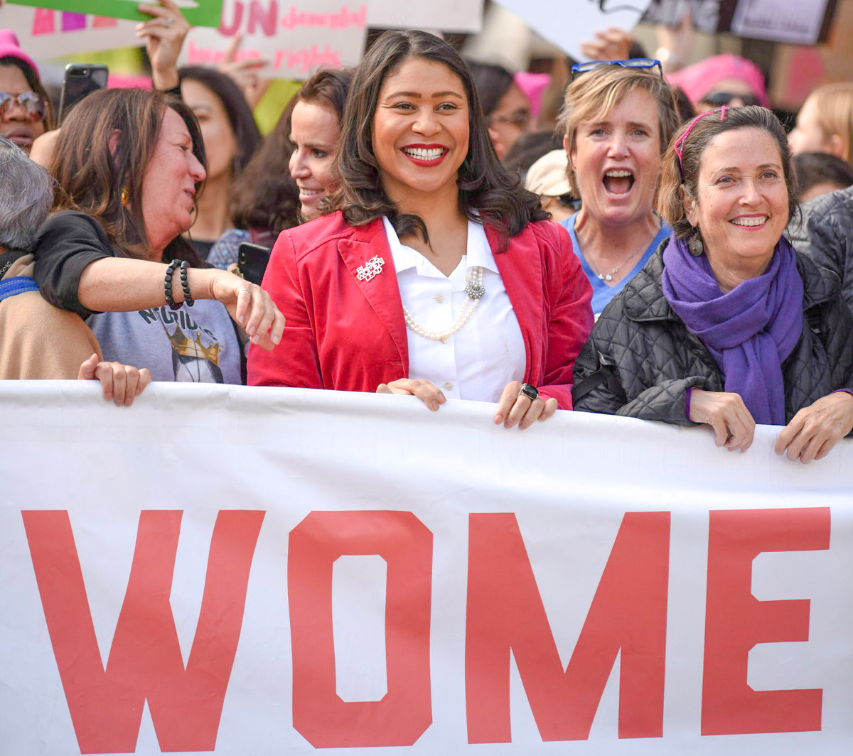 Mayor London Breed at the 2019 Women's March